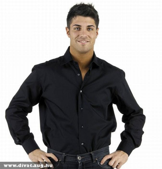 Calvin Klein - fekete férfi ing