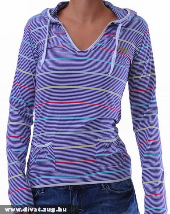 Fundango lila csíkos pulóver