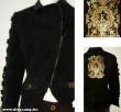 Keyo fekete-arany kabát
